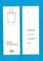 Cartes Parfumées Carte TERRE D'HERMÈS De HERMES RECTO VERSO - Modernes (à Partir De 1961)