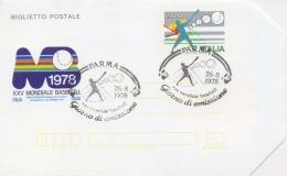 Italia 1978 Biglietto Postale 120 Lire 25° Campionato Mondiale Di Baseball A Bologna-Parma-Rimini Annullo Di Parma - Baseball