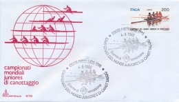 Italia 1982 FDC CAPITOLIUM Campionati Mondiali Juniores Di Canottaggio Annullo Di Piediluco - Canottaggio