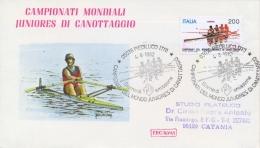 Italia 1982 FDC ROMA Campionati Mondiali Juniores Di Canottaggio Annullo Di Piediluco - Canottaggio