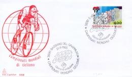 Italia 1985 FDC CAPITOLIUM Campionati Mondiali Di Ciclismo Annullo Di Bassano Del Grappa - Ciclismo