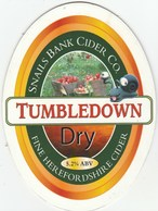 SNAILS BANK CIDER CO (HEREFORD, ENGLAND) - TUMBLEDOWN DRY - PUMP CLIP FRONT - Signs