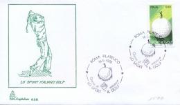 Italia 1988 FDC CAPITOLIUM Sport Italiano: Golf Annullo Di Roma - Golf