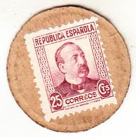 ESPAÑA 1938 . 25 CENTIMOS SELLO-MONEDA. EBC EXTREMELY FINE   (ROJOEY) - [ 3] 1936-1939 : Guerra Civil