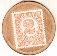 ESPAÑA 1938 . 2 CENTIMOS SELLO-MONEDA. EBC EXTREMELY FINE   (ROJOEY) - [ 3] 1936-1939 : Guerra Civil