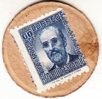 ESPAÑA 1938 . 60 CENTIMOS SELLO-MONEDA. EBC EXTREMELY FINE   (ROJOEY) - [ 3] 1936-1939 : Guerra Civil