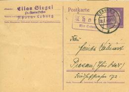Deutsches Reich Ganzsache P299 O Poststellenstempel Ahorn - Deutschland