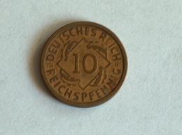 Allemagne 10 REICHS Pfennig 1924 J 1925J - [ 3] 1918-1933 : Weimar Republic
