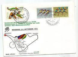1971 CICLISMO CYCLYNG Campionati Mondiali  Mendrisio, Busta Commemorativa - Ciclismo