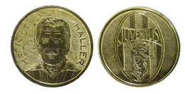 00491 GETTONE TOKEN JETON FICHA SPROT EDITORIALE CORNO ANNI 80 SERIE MEDAL CALCIO JUVENTUS HELMUT HALLER - Unclassified