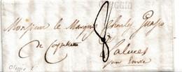 PRE232 - 13 Agosto 1836 - Lettera Con Testo Da Oleggio A Saluzzo (Saluces) Tassata 8 Soldi Sardi . - 1. ...-1850 Vorphilatelie