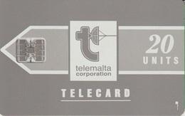 817/ Malta; P4. Telemalta Logo - Long Antenna, 20 Ut., SC7, CN C36141870 - Malta
