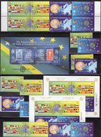 50 Years CEPT Salomon Block 89,Bosnia 419/2A/B,ZD+2VB,Block 27A+B ** 155€ Stamps D 242 Italy 1016 Ss Sheets Bf 2005 - Joint Issues