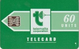 818/ Malta; P6. Telemalta Logo - Long Antenna, 60 Ut., SC5, CN 41972 - Malta