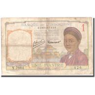Billet, FRENCH INDO-CHINA, 1 Piastre, KM:54c, TB - Indochine