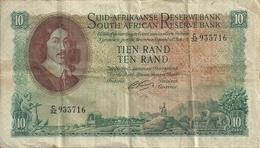 AFRIQUE DU SUD 10 RAND ND1962-65 VF P 107 B - Afrique Du Sud