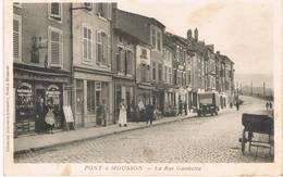 PONT à MOUSSON (Meurthe Et Moselle) - La Rue Gambetta - Loterie Des Régions Libérées - Animée - Pont A Mousson