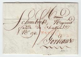France 1813 Entier De '79 NAPOLEON' Vendée, Nom Révolutionnaire, Pour Bordeaux (q217) - 1801-1848: Precursores XIX