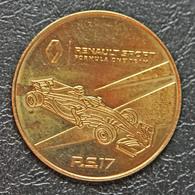 """Jeton Touristique """"Atelier Renault - Champs-Elysée / Formule 1 R.S. 17 - Formula One Team"""" Course Automobile - Tourist"""
