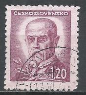 Czechoslovakia 1946. Scott #295A (U) President, Masaryk * - Tchécoslovaquie