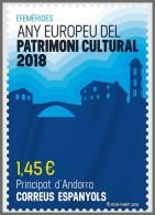 H01 Andorra Spain 2018 European Year Of Cultural Heritage MNH ** Postfrisch - Nuovi