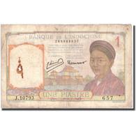 Billet, FRENCH INDO-CHINA, 1 Piastre, KM:54c, B - Indochine