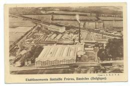 CPA BASECLES, ETABLISSEMENTS BATTAILLE FRERES, HAINAUT, BELGIQUE - Beloeil