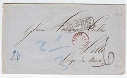 Sachsen Saxonia 1868 Faltbrief 'REICHENBACH IM VOIGTLANDE' Nach LILLE Frankreich France (q223) - Sachsen