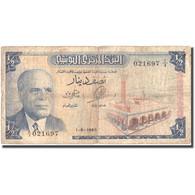 Billet, Tunisie, 1/2 Dinar, 1965, 1965-06-01, KM:62a, B+ - Tunisia