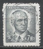Czechoslovakia 1945. Scott #299 (U) President, Eduard Benes * - Tchécoslovaquie