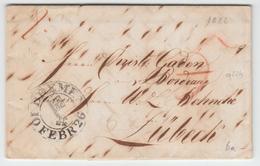 Bremen 1826 Faltbrief Mit Schlüsselstempel BREMEN Nach Lübeck, Feuser 431-23 (q224) - [1] ...-1849 Préphilatélie