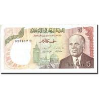 Billet, Tunisie, 5 Dinars, 1980, 1980-10-15, KM:75, TTB - Tunisia