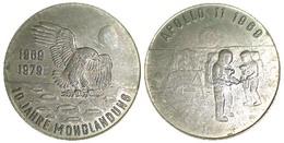 05237 GETTONE TOKEN JETON COMMEMORATIVE CONQUEST OF THE MOON APOLLO 11 1969-1979 10 JAHRE MONDLANDUNGA - Allemagne