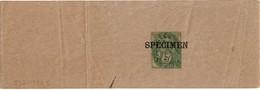 """LCTN53 - BJ BLANC 5c SURCHARGE """"SPECIMEN"""" - Entiers Postaux"""