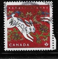 CANADA  2011,USED  # 2416,  LUNAR NEW YEAR :  RABBIT - 1952-.... Règne D'Elizabeth II