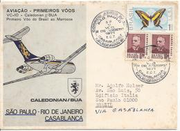 BRAZIL - 1971/1972 - COMMEMORATIVE STAMP - FIRST FLIGHTS - BRITISH CALEDONIAN ......... WNV - Aerei