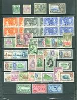 British Honduras Coronation Peace Views Royals More 49 Items Including 8 Sets  MNH Cat $45 US A04s - Belize (1973-...)