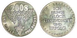 05241 GETTONE TOKEN JETON LUCKY TOKEN GLUCK TALER ONE WORLD ONE NATURE 2008 - Allemagne