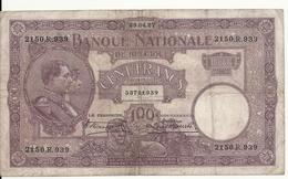 BELGIQUE 100 FRANCS 1927 VF P 95 - 100 Francs & 100 Francs-20 Belgas
