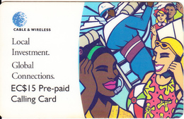 ST. VINCENT & THE GRENADINES - Local Investment(ST 15), C & W Prepaid Card, First Issue EC$15, Exp.date 04/00, Used - St. Vincent & The Grenadines