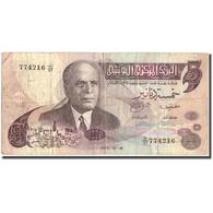 Billet, Tunisie, 5 Dinars, 1973, 1973-10-15, KM:71, TB+ - Tunisia