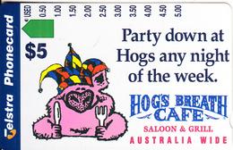 AUSTRALIA - Hog's Breath Cafe, Tirage 5000, 11/96, Used - Australia