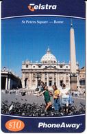 AUSTRALIA - St Peters Square/Rome, Telstra Prepaid Card $10, Exp.date 10/00, Used - Australia