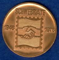 Medaille Zur Briefmarkenausstellung SCHWEBRIA 1976 50mm - Souvenir-Medaille (elongated Coins)