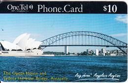 AUSTRALIA - Sydney Opera House And Sydney Harbour Bridge, One Tel Prepaid Card $10, Exp.date 01/10/99, Used - Australia