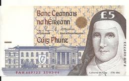 IRELANDE 5 POUNDS 1994 UNC P 75 A - Irlande