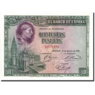 Billet, Espagne, 500 Pesetas, 1928, 1928-08-15, KM:77a, SPL+ - [ 1] …-1931 : First Banknotes (Banco De España)