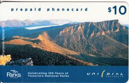 "AUSTRALIA - Victoria""s National Parks/Grambians, UNIDIAL Prepaid Card $10, Exp.date 31/12/99, Used - Australia"
