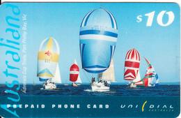 AUSTRALIA - Saiing, Australiana, UNIDIAL Prepaid Card $10, Exp.date 30/06/99, Used - Australia