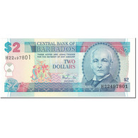 Billet, Barbados, 2 Dollars, 1999, Undated (1999), KM:54b, NEUF - Barbades